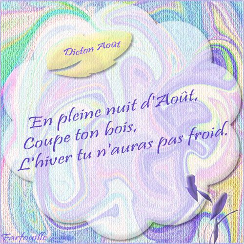 Album - 16 ~ Dictons d'Août ~ Cartes à imprimer
