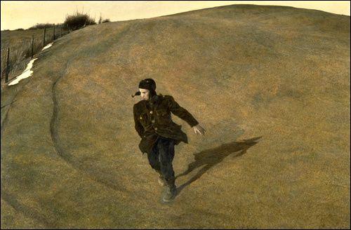 Méconnu en France, le digne fils de l'éminent illustrateur américain Newell Convers Wyeth nous a quittés en 2009. Peintre sensible cultivant l'insolite, son intriguant univers rural, languide et désolé - mélancolique -, nous hante, hypnotique.