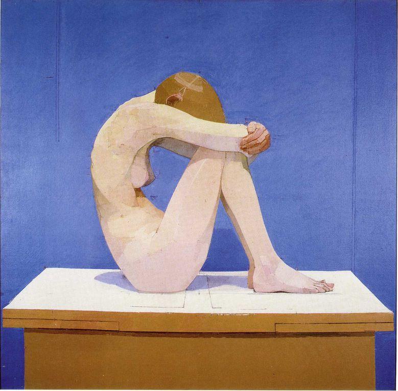 Chaînon manquant entre Balthus et Hopper, l'oeuvre capital de cet Anglais (1932-2000) semble interroger la peinture figurative à travers le prisme de Mondrian. De la géométrie appliquée au corps humain, pour un jalon important de l'art du XXe.