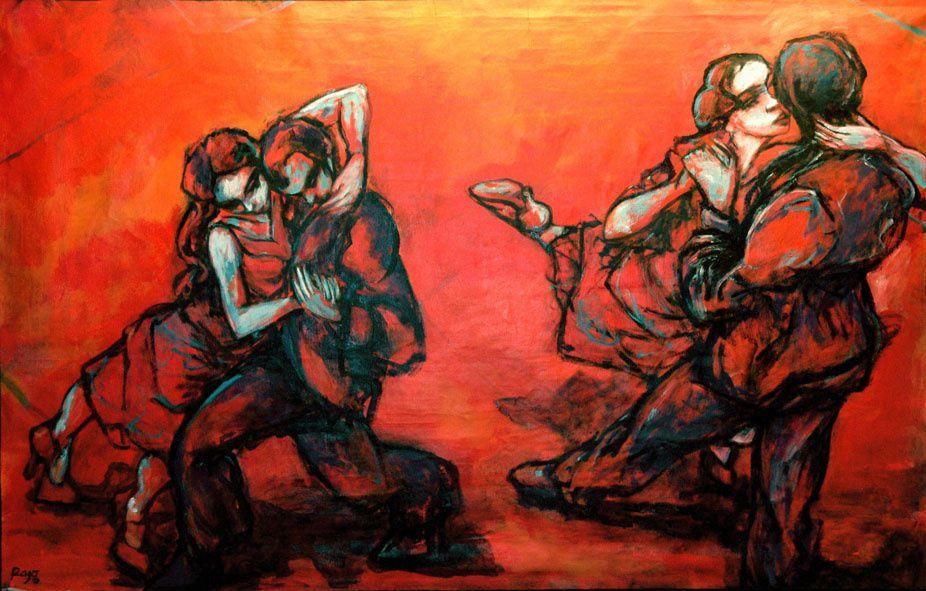 Cette Argentine vivant à Paris puise notamment dans l'imaginaire du tango pour produire une oeuvre délicate et sensible, gracieuse et cohérente, qui n'est pas sans rappeler celle d'un certain Modigliani.