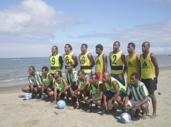 Beach Soccer Squad at auckland - July 2007