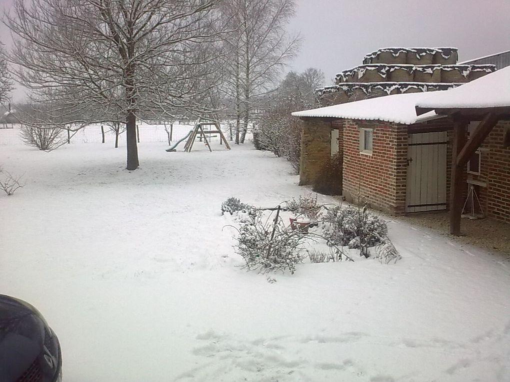 neige dans l'aube