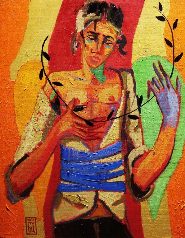 """Hace ya algunos años que el pintor porteño Gonzalo Ilabacano pinta Valparaíso ni sus bares.Según él mismo dice, busca """"más ilusión y menos realidad"""".Por eso se ha volcado a pintar el mundo que está dentro de él.Parte de este imaginar"""