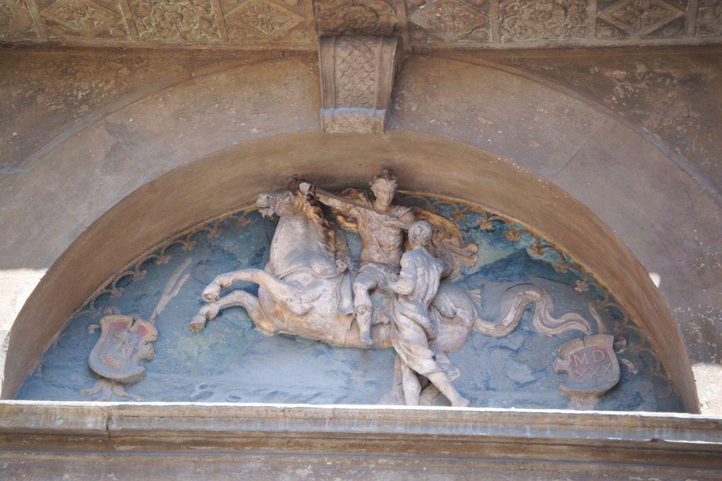 été 2011, voyage à Bologne et Ferrare, série les chevaux dans l'art....