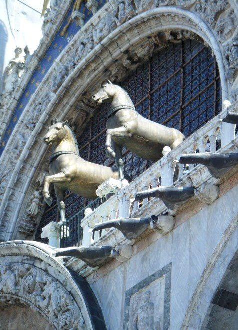 Voyage à Venise, avril 2010, chevaux dans l'art et l'histoire, cheval version peinture, sculpture....
