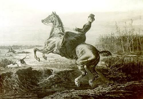 Mélange des genres, la monte en amazone au cirque, su cinéma, dans les gravures anciennes, les selles d'amazones, les tenues et costumes des cavalières amazones, mais aussi des chevaux de légende du saut d'obstacles, Shutterfly et Mérédith Mich