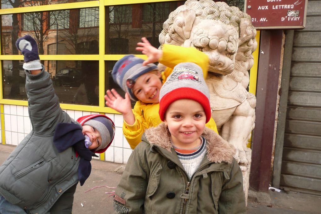 avec tata Violette, un petit tour à St Jean de Luz, le nouvel an chinois