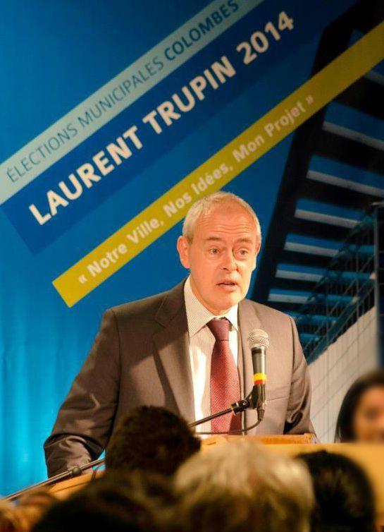 Réunion publique de Laurent Trupin pour Colombes 2014.Le meilleur pour tous...