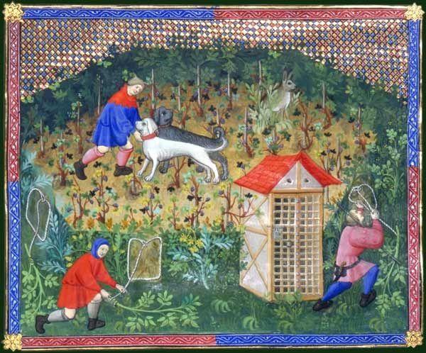 Iconographies illustrant le paysan au Moyen âge.