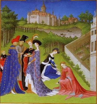 """Les """"Très riches heures du Duc de Berry"""" est un livre d'heures, c'est à dire, dans la tradition médiévale, une collection de textes illustrés, calendriers, psaumes, messes, pour chaque heure liturgique de la journée. Ce chef d'oeuvre de l'art G"""