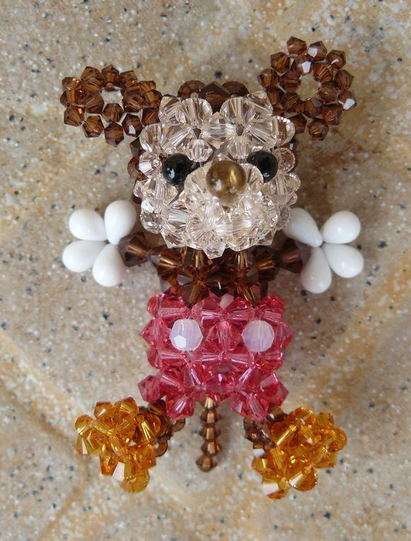 Divers personnages en perles