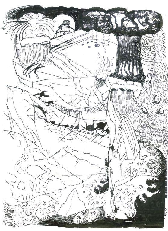 """Une sélection de mes dessins sur l'ingénierie climatique- les origines, les auteurs, les théories-avec un point de vue à contre-courant de la """"pensée unique""""!En regardant le ciel,je me demande:QUI DESSINE DANS LE CIEL?1er novembre 2013"""