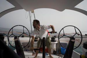 Actuellement, les photos du bapteme du Maxi Trimaran - Les photos de la tentative de record de Thomas Coville, pour le tour du monde sans escale à la voile en solitaire !