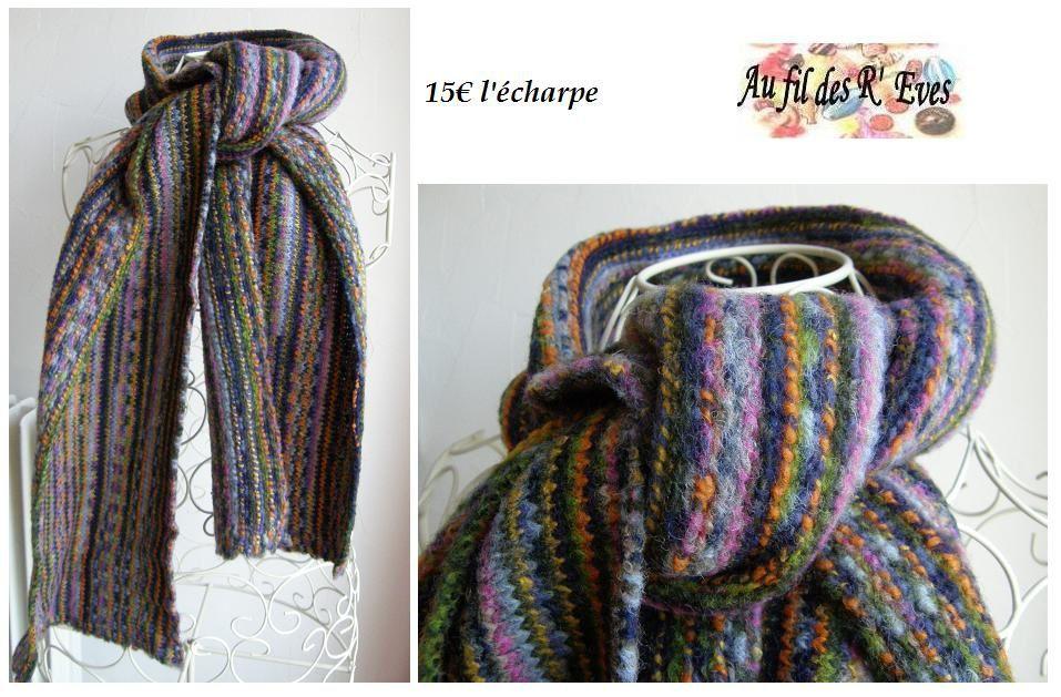 Bientôt l'hiver alors oensez dès aujourd'hui à votre eptie écharpe. Elles sont toute douces, pas chères et facile à réaliser si vous êtes manuelle