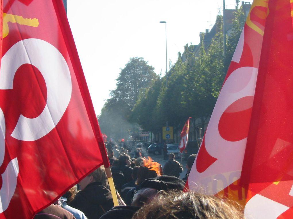 Manifestation d'Angers du 12 octobre 2010 contre le projet de réforme des retraites.