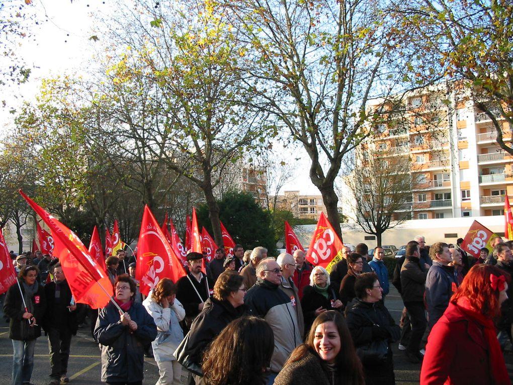 Manifestation d'Angers du 23 novembre 2010 contre la réforme des retraites.