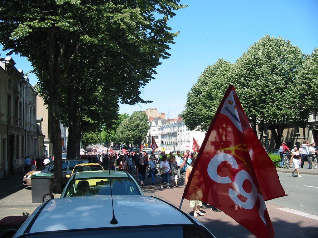 Manifestation du 24 juin 2010 contre le projet de réforme des retraites à Angers.
