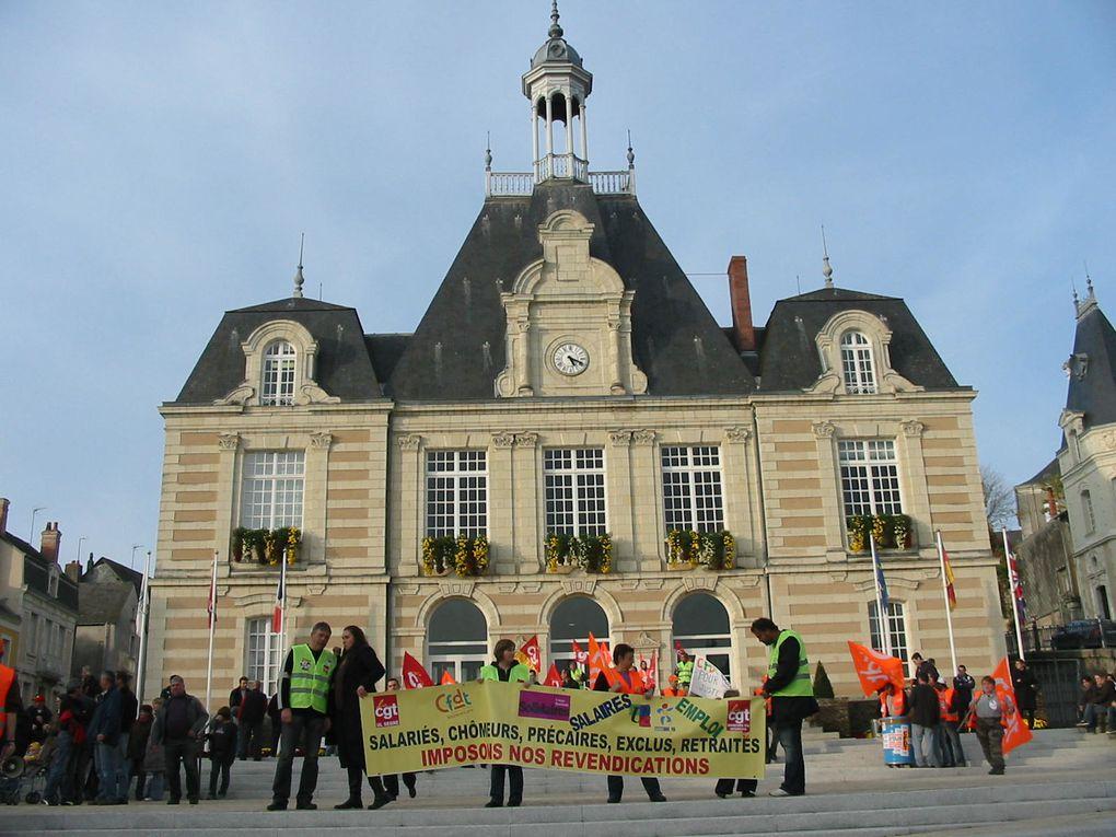 Manifestation de Segré du 28 octobre 2010 contre le projet de réforme des retraites.