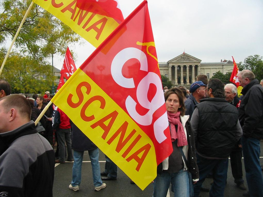 Journée d'action contre la réforme des retraites du 28 octobre 2010 à Angers.
