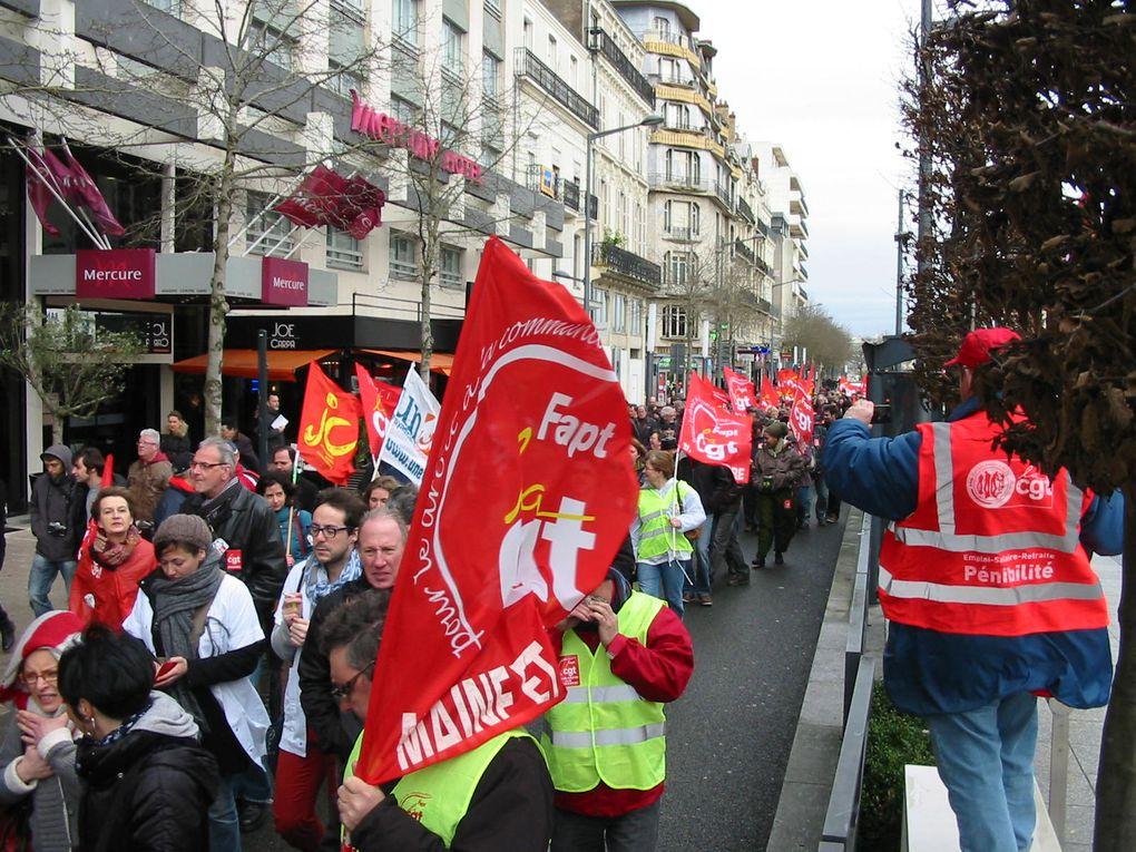 Manifestation Cgt du 6 février 2014 à Angers pour dénoncer le coût du capital.