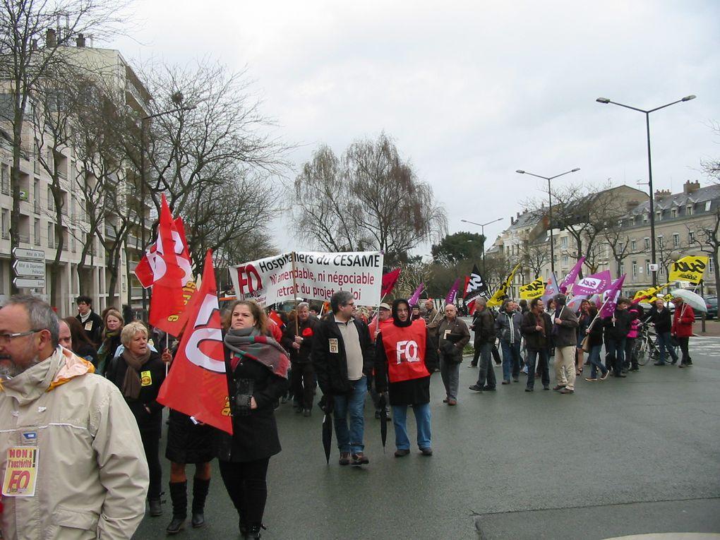Manifestation du 9 avril 2013 à Angers contre l'ANI du 11 janvier 2013.
