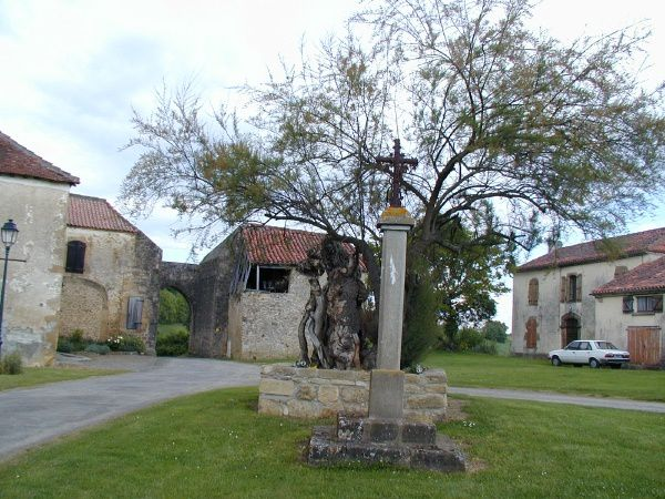 village, église, monuments, panoramique