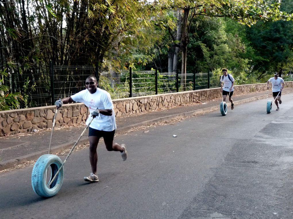 course de pneu, triathlon, course de kayak