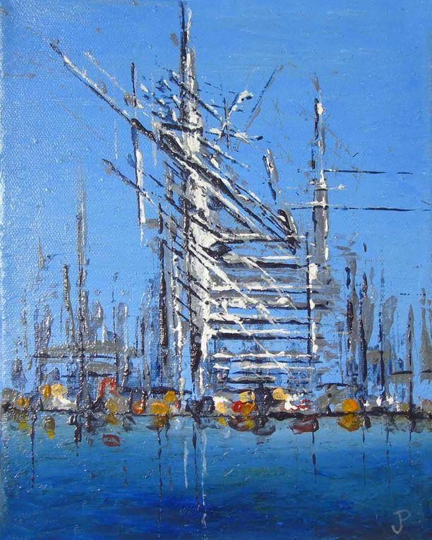 Peintures figuratives, acryliques sur toiles