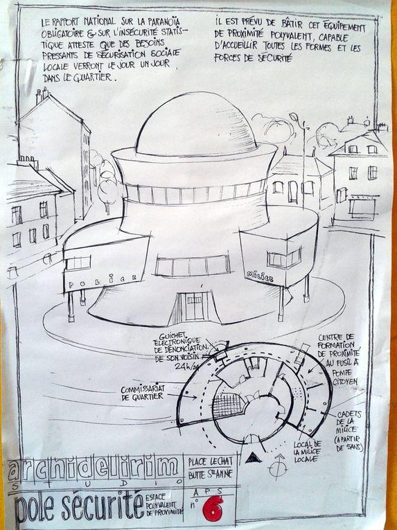 Projets pour la Butte Ste Annepar Nicolas de la Casinièreaux Buttineries 2005