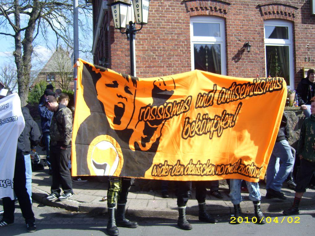 """Proteste gegen den """"Deutschen Bund für Gotterkenntnis (Ludendorffer e.V) in Dorfmark am 2.4.2010.Fotos:(DGB Kulturarbeitskreis, monitorex) siehe Einzelfotos"""