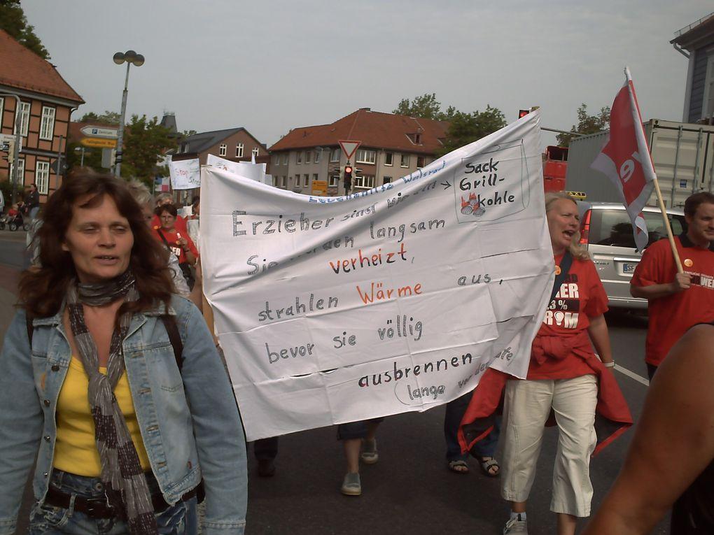 Streik der KITA-Beschäftigten in Soltau Fallingbostel, DEMO durch die Soltauer InnenstadtAlle Fotos: DGB-Kulturarbeitskreis SFA
