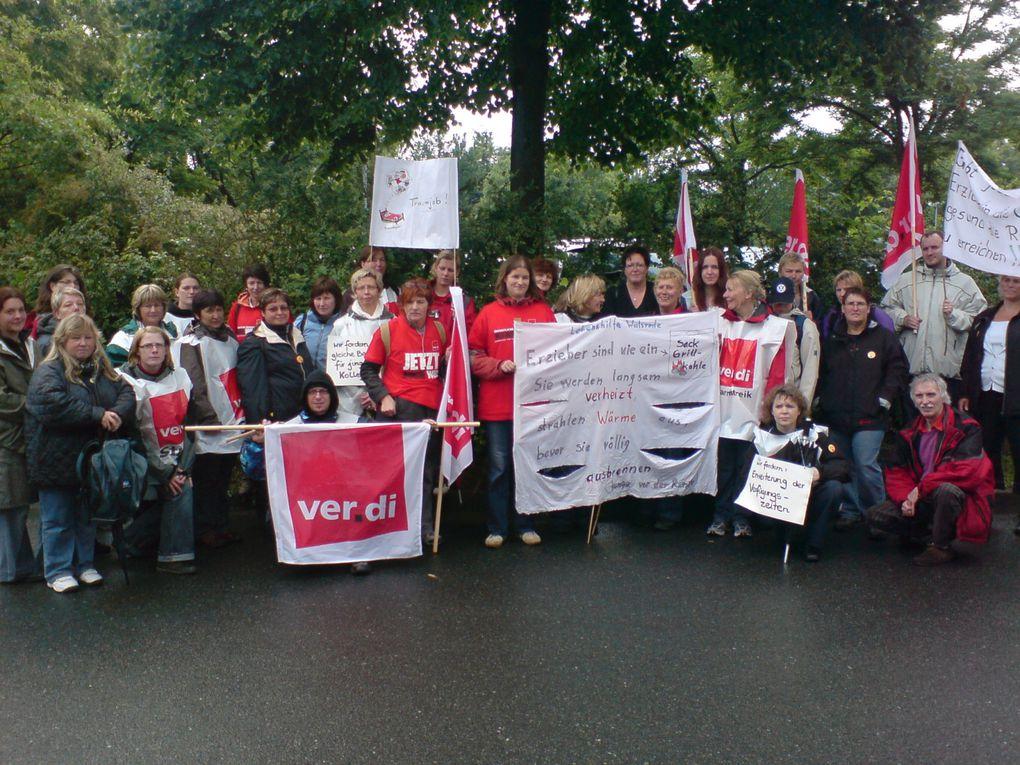 Fotos von der Streik-Kundgebung Sozial- und Erziehungsdienst  am 11.6.09 in Lüneburg - Fotos: Lars Schmidt