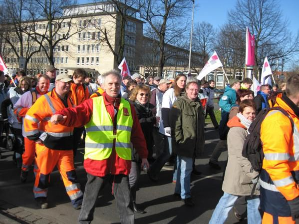 Verdi Warnstreik-Demo am 4.3.2008 in Hannover