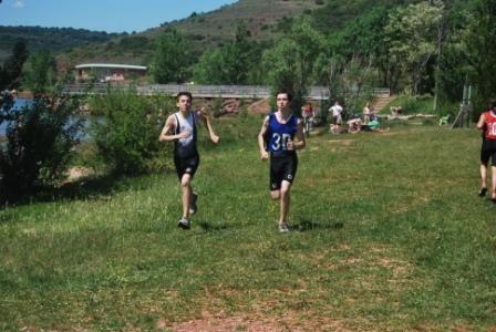 Championnat académique de triathlon au Salagou le 6.05.09