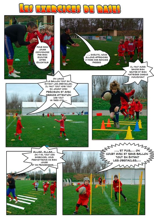 Des enfants ont réalisé des reportages photos dans leur école de rugby. Ce travail collectif va donné lieu à une exposition le 1er mai. Les ateliers se sont déroulé le 5 et 19 mars 2008