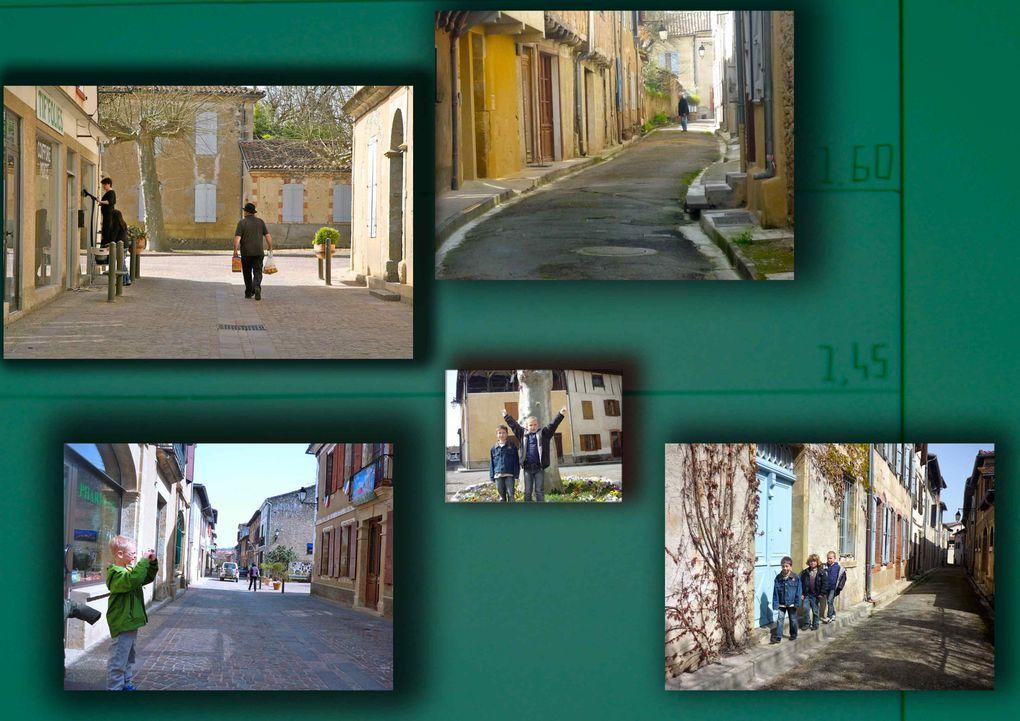 Photos des enfants suite à un atelier d'initiation et de sensibilisation à l'image de 3h sur l'exposition du Pays Portes de Gascogne, le 30 mars 2010 de 13h30 à 16h30 pour 24 élèves de CE2 et de CM1, et la préparation et mise en page d'