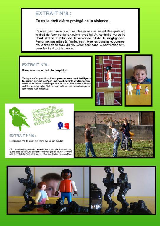 Atelier pendant la semaine des droits des enfants. 8 Enfants de 5 à 8 ans ont participé à cet atelier de 3 heures.