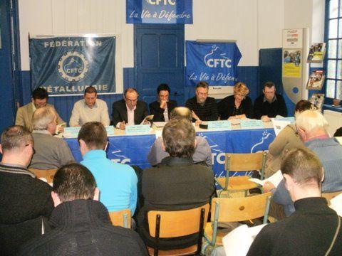 Congrès du Syndicat Métallurgie du Nord à Douai le 2 décembre 2009