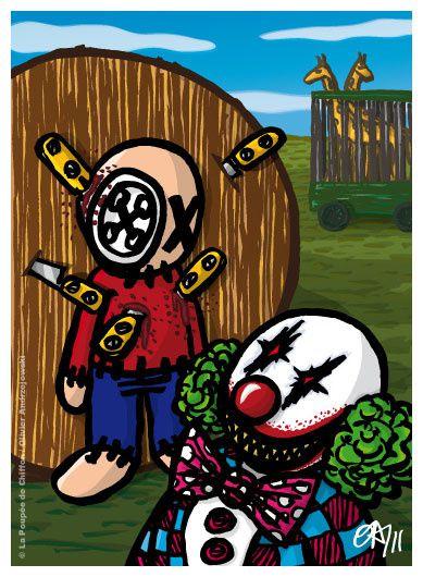 De nouvelles illustrations des mésaventures de la poupée de chiffon.