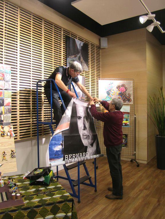 """exposition collective , concerts, un événement organisé par le """"Musée du rock"""" de La Rochelle.installation et photos des concerts  par Jackie Groisard"""