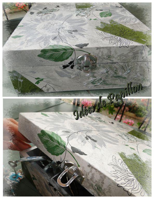 Serviettage et peinture à l'huile ...