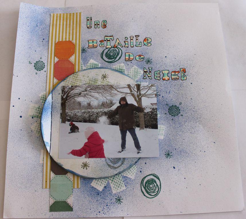 """dernières neiges de février 2012 mises en page grâce à Victor sur l""""Atelier à scrap"""