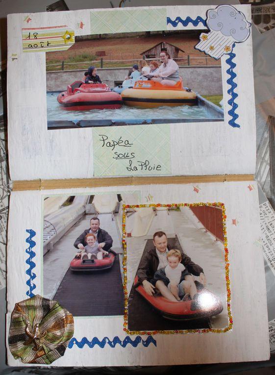 """mon été 2011 réunit dans un même album réalisé grace à un méga atelier sur le forum """"L'atelier à scrap"""" et animé par Fanny et Tova"""