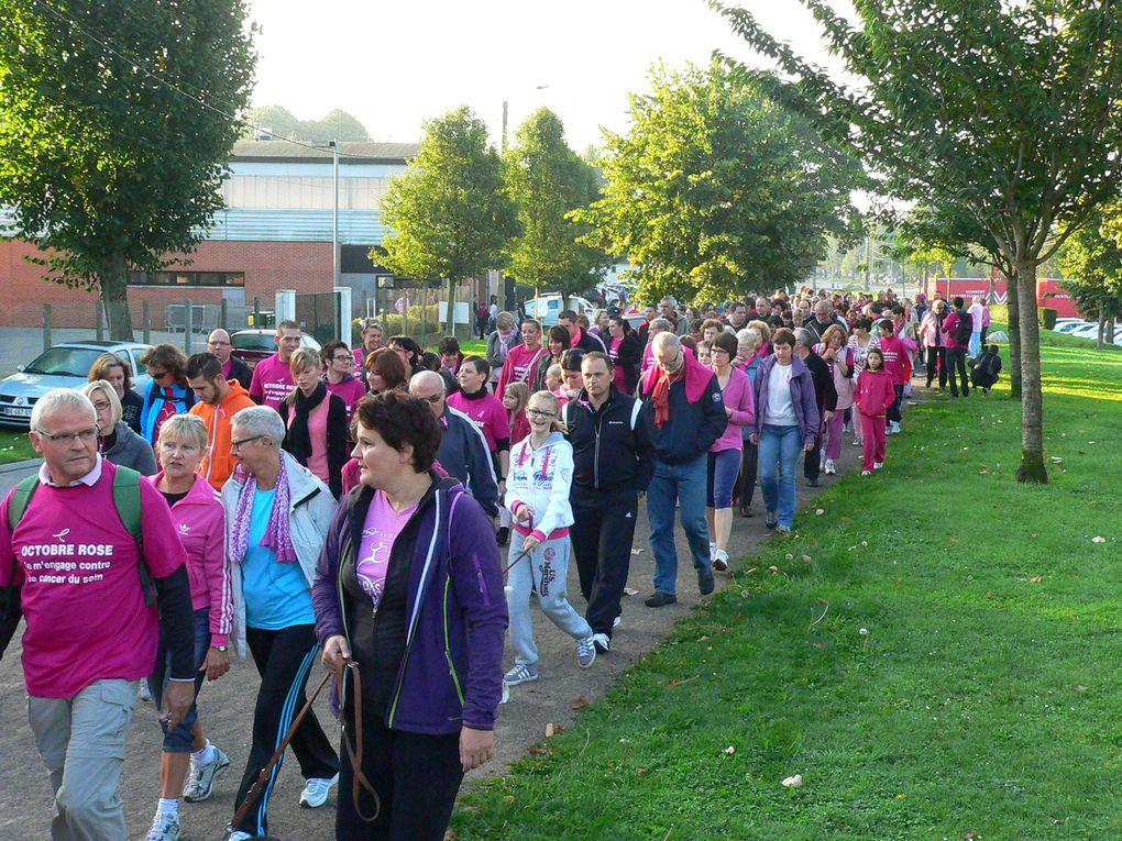 la lutte contre le cancer du sein. manifestation sportive à Abbeville
