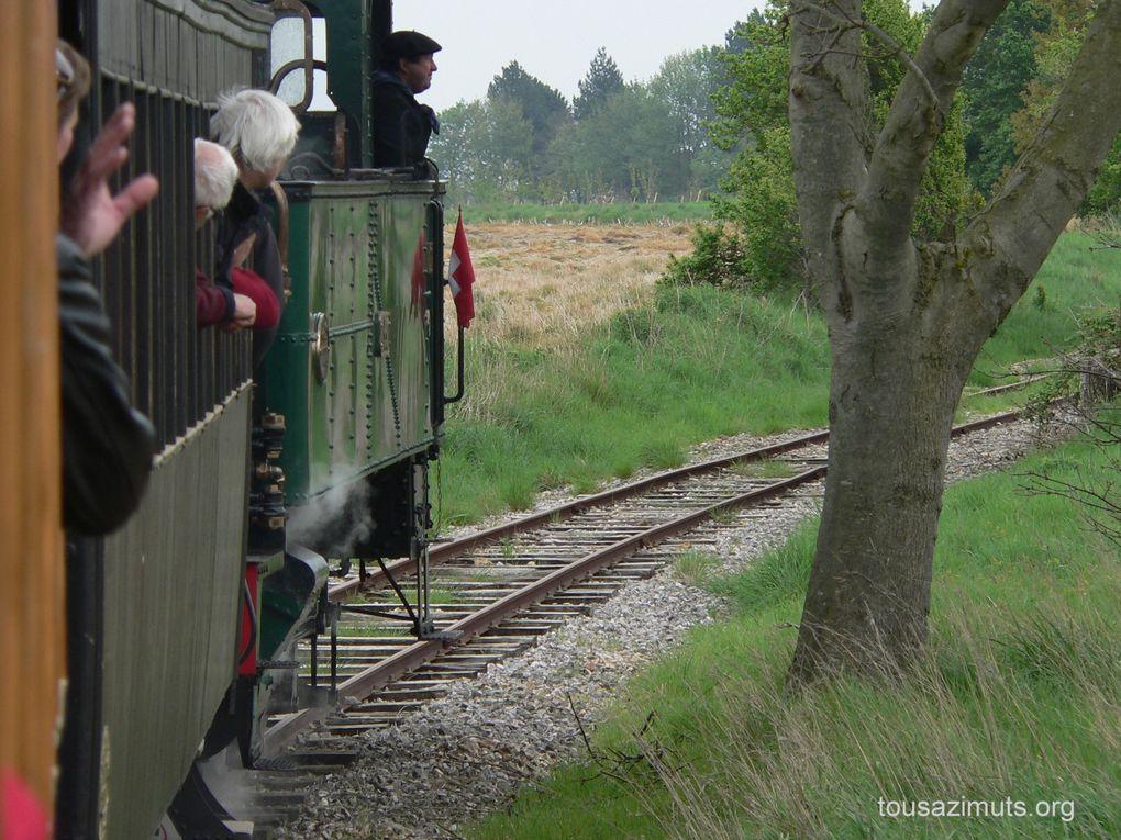 La fete de la vapeur en Picardie Maritime les 25 et 26 avril 2009.Le Crotoy, Noyelles, St Valery et Cayeux sur Mer