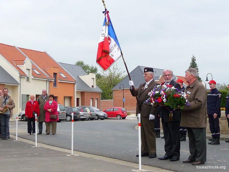 La cérémonie du 8 Mais 2010 à Feuquières en Vimeu