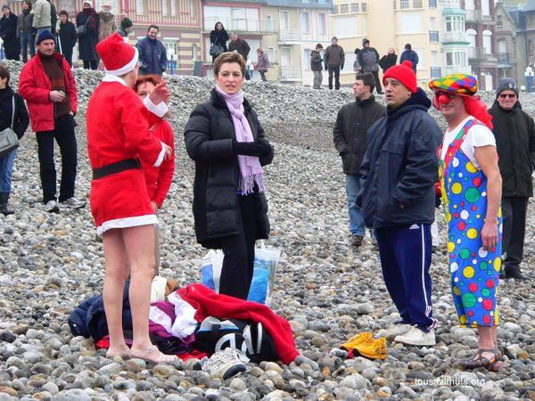 La baignde du premier de l'An à Mers les Bains