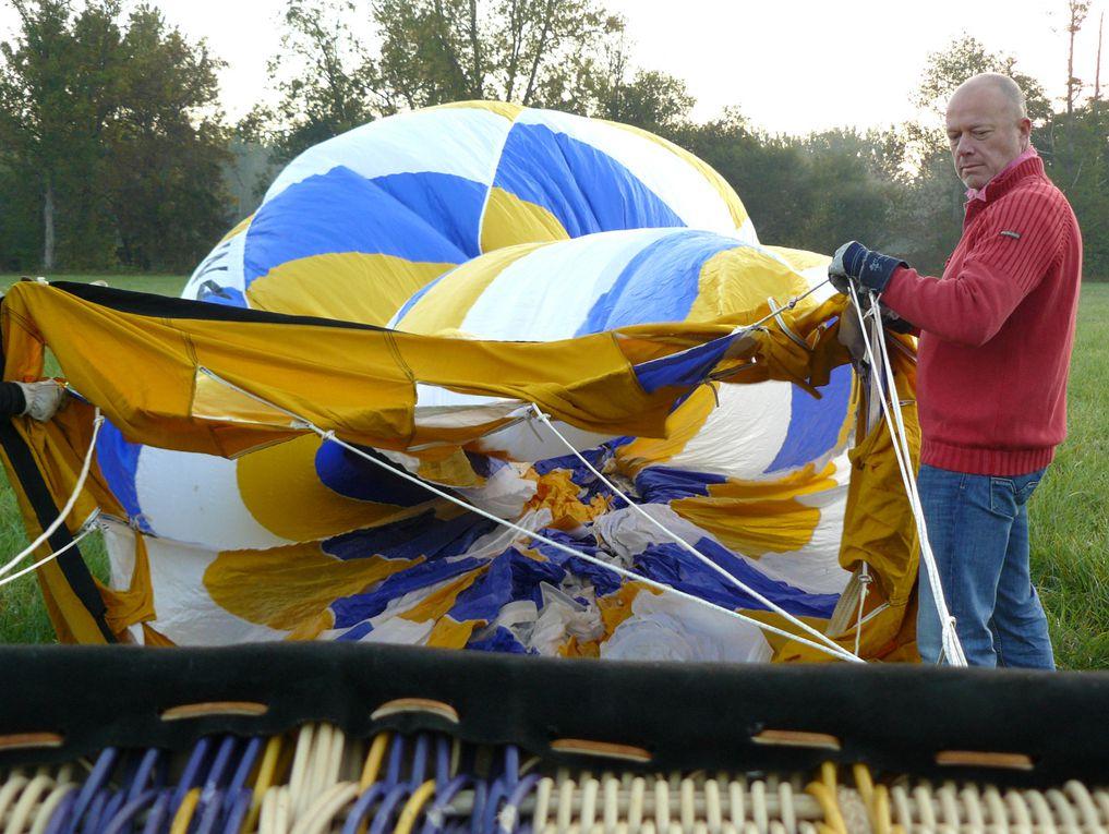 Voyage en montgolfière en Vals de Saintonge, de Saint-Jean-d'Angély à Paillé, samedi 3 octobre 2009.