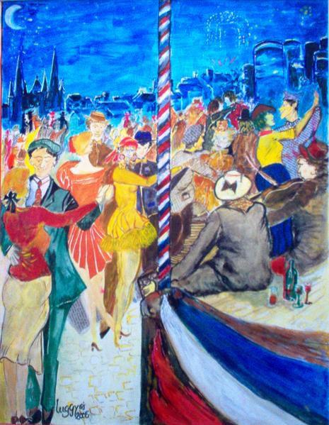 peintures et collages de Guy-Joseph L utilisant des techniques associées et variées