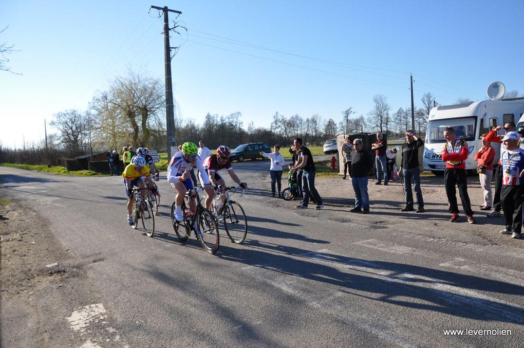 Course UFOLEP à Cintray le 9 mars 2014